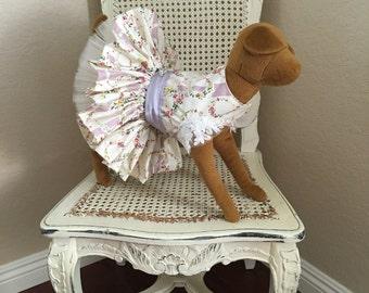 Romance at Martha's Vineyard Dog Dress, Liliac Floral