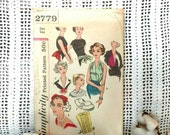 1950's Ladies Neckware Pattern by Simplicity -  Retro Accessories Pattern, Sewing / Seamstress Supply, Vintage Pattern for Dicky + Headband