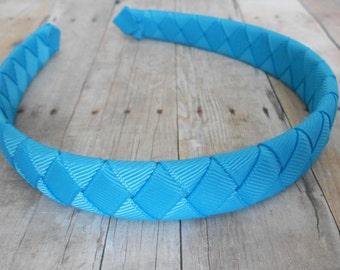 Turquoise Woven Headband Girls Headband Summer headband