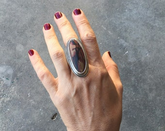 Indian Paint | Death Valley Picture Stone | Sterling Silver Ring | Ride the Lightning | Size 7.5