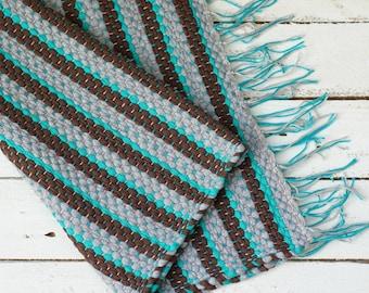 Hand Woven blanket, Hand woven rug,  Hand Woven Cotton Yarn Floor Rug