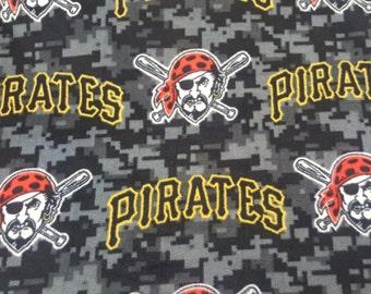 MLB Pittsburgh Pirates Fleece Fabric by the yard