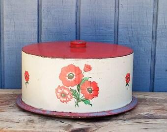 Vintage Cake Carrier - Decoware Cake Carrier - Vintage Cake Pan