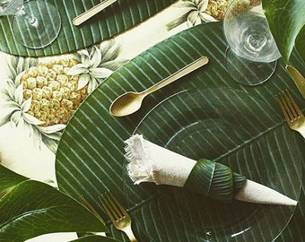 "Artificial Banana Leaf Placemat - 19"" by 16"""