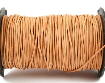 1.5mm Greek Leather - Natural Greek Leather Cord - Distressed Matte Finish