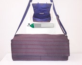 Portable Oxygen Tank Bag, a Horizontal, Handmade Designer Carrier Bag
