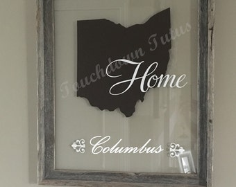 Custom DIY state Decal - Ohio pictured but choose your state and colors