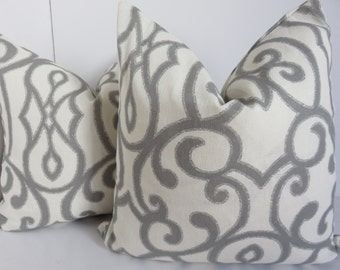 Ivory grey pillow cover- 16x16 pillow cover- Cotton pillow cover- Grey pillow cover - pillow cover