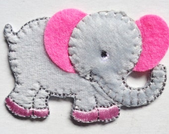 elephant iron on patch