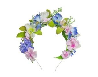 Blue Meadow Floral Headband