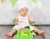 PERSONALiZED Baby or TODDLER CHEF set in 3 Sizes  - PhotoProp - Costume - fits infants or Toddlers up to 3T