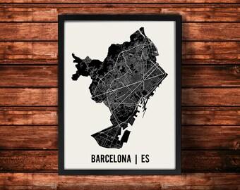 Barcelona Map Artwork | Map of Barcelona | Barcelona Spain Map | Barcelona City Map | Barcelona Poster | Barcelona Wall Art Print