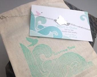 Oahu Bracelet, Heart In Hawaii Bracelet, Stering Silver or 14K gf  by Sparrow Seas