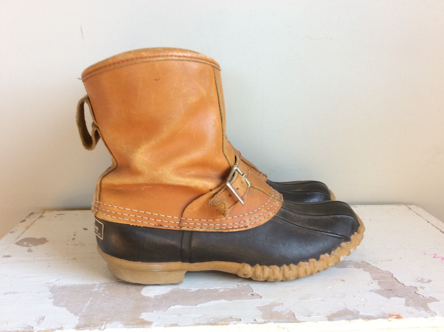 vtg ll bean lounger duck boots mens size 8 by