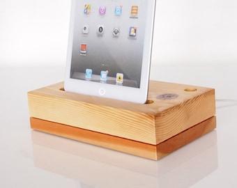 iPad mini dock + pen holder - iPad mini 1 / mini 2 / iPad mini 3 / iPad mini 4 dock  (unique office accessory)
