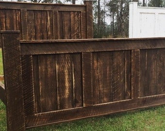 cabin bedroom wood bedrustic bed