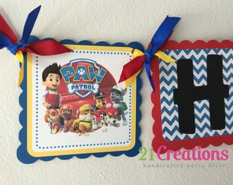 Paw Patrol Party Banner