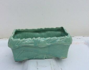 Vintage McCoy pottery AquaGreen window box planter