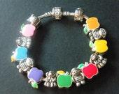 Apples, Girls, Boys, Sterling Silver, Euro Charm Bracelets! Charm Bracelets, Doctor Gift, Nurse Gift, Mom Gift, Grandma Gift, Teacher Gift