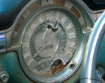Classic Oldsmobile, Vintage Speedometer, Vintage Car Photography, Automotive Photography, Rustic Speedometer, Photo by Abby Smith,
