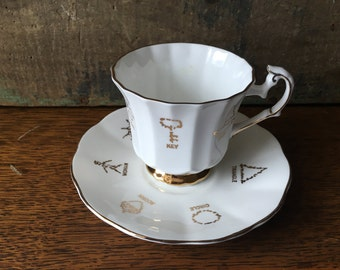 Taylor & Kent Red Rose Tea Fortune Telling Tea Cup