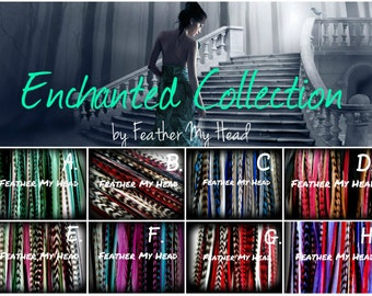 16 Pc Feather Hair Extensions - Premium - Long 9-12 Inch (12-28cm) Pick Your Pack Enchanted Collection - Beads Sold Seperately