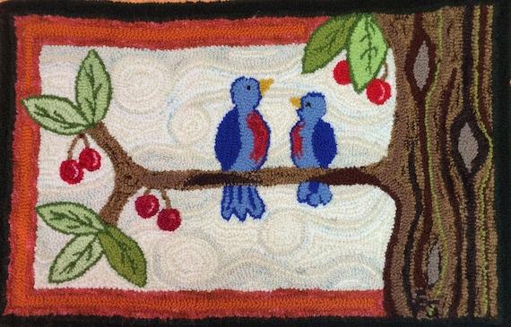 Cherry Conversation Rug Hooking Pattern
