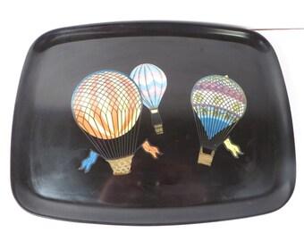 Mid Century Hot Air Balloon Courac Tray - Vintage Bakelite Courac Tray