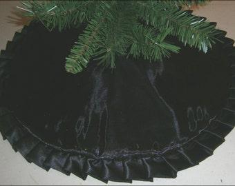 "Tapered / Pencil Halloween / Christmas Tree Skirt ~ 32"" ~ Sparkly Black"