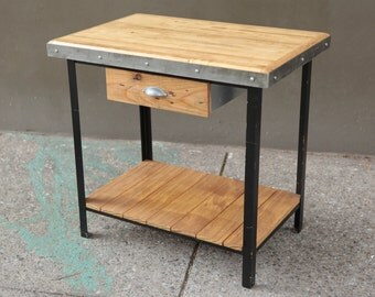 Butcher Block Island, Bowling Alley Kitchen Island, Kitchen Table, Kitchen  Furniture, Home