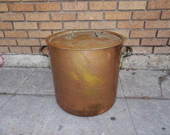 Vintage Copper Pot with German Nickel Lining