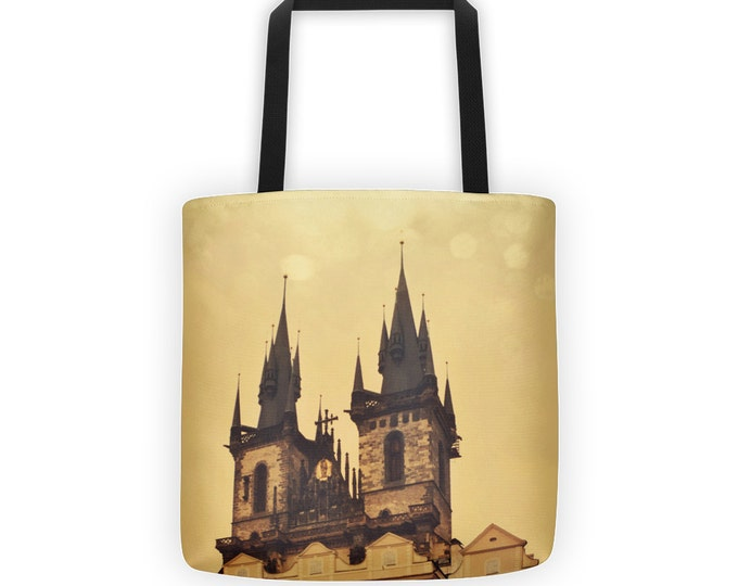 Hradcany Castle Spires Prague Tote for Eco Shopping and School and Sundry