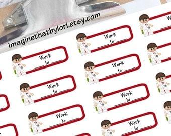 Male Nurse schedule planner stickers