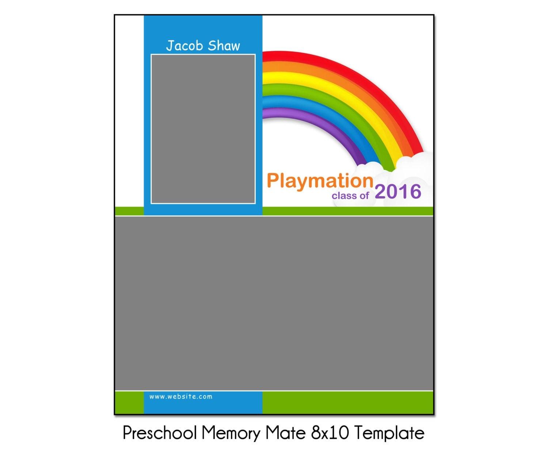 rainbow preschool mm2 8x10 memory mate sports photo template. Black Bedroom Furniture Sets. Home Design Ideas