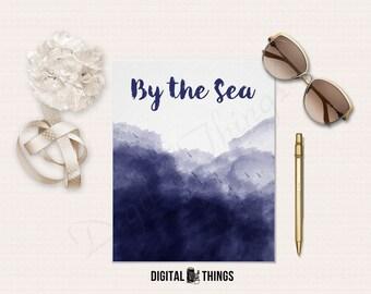Printable Art Watercolor Wall Art Decor Print Digital Art By The Sea Digital Download Instant Download DT1192