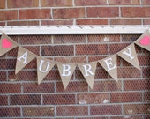 Custom Name Banner - Personalized Name Banner - Gifts for Children - Burlap Name Banner, Baby Shower Banner, Baby Name Banner, Nursery Decor