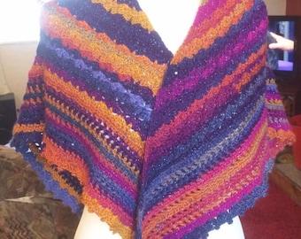 Crocheted Shawl 'Sunset'