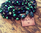 Creation Color: Versatile crocheted necklace / bracelet / belt / headband
