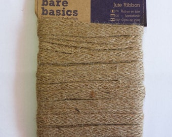 Rustic Jute Ribbon Trim - 13mm - Wedding Sew Vintage Gift Tie Cord - 5m Length