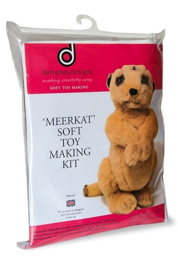 Squishy Making Kit : Meerkat Soft Toy Making Kit Cuddly Craft Fur Fabric Gift