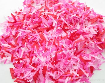 Valentine's Day Confetti Pink Red Paper Scraps