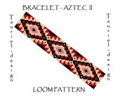 Loom pattern - native american inspired bracelet pattern - Aztec II