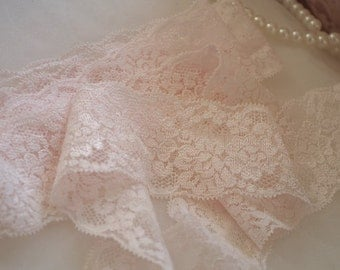 2 yards light blush pink stretch lace, elastic lace trim, hot selling 2016