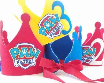Paw Patrol Birthday Crown - Paw Patrol Party Hat - Paw Patrol Party Decorations - Kids Paw Patrol Birthday