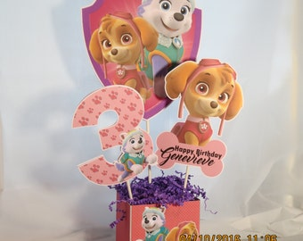 Paw Patrol  (Skye & Everest) Centerpiece