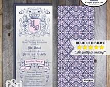 Knight & Princess Invitation | Knight Princess Birthday Invite | Princess Invitation | Knight Invitation | Medieval Invitation | Printable