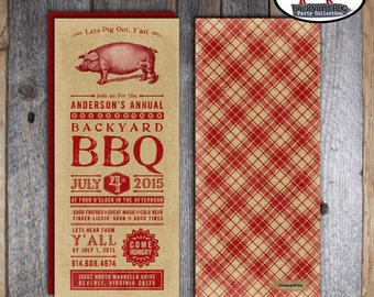 BBQ Invitation | Backyard BBQ Invitation | Barbecue Invitation | Cookout Invitation | July 4th Invitation | BBQ Rehearsal Dinner | Printable