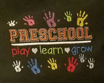 Preschool machine embroidery design - 5X7