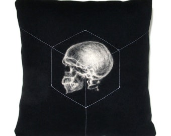 X-Ray Skull Pillow