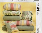Chair And Ottoman Cushions Bench Pad Chaise Cushion And Pillows Craft Sewing Pattern 2003 Home Accessories McCalls 4124